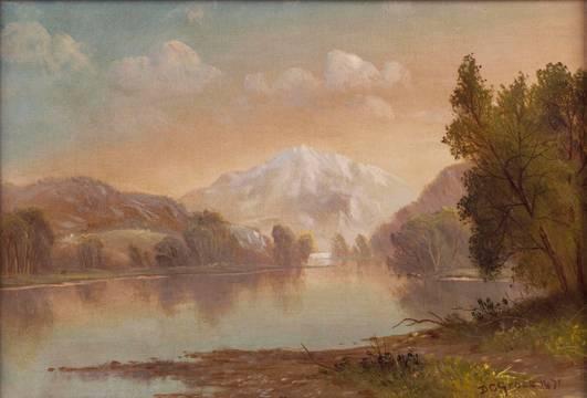 Daniel Charles Grose Mountain Lake unframed
