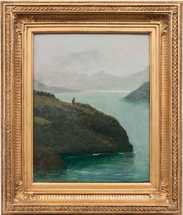 Albert Bierstadt Western Scenery Framed