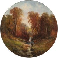 Wesley Webber  Autumn Stream Unframed