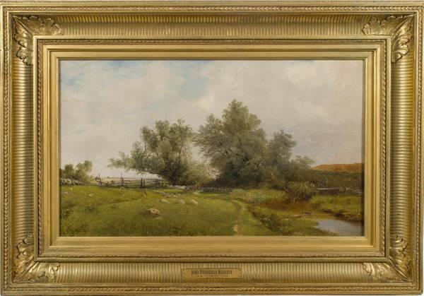 John Frederick Kensett Rhode Island Meadow framed