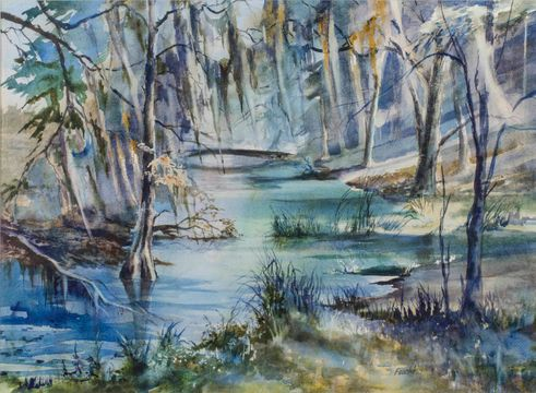 Virginia Fouche Bolton Spanish Moss, Low Country Swamp, SC unframed