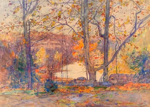 William J. Forsyth Autumn unframed