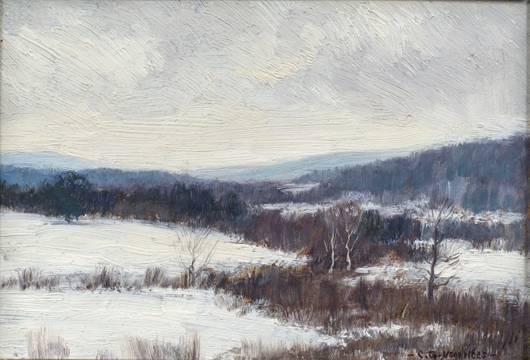 Clark Greenwood Voorhees Winter in the Berkshire Hills unframed