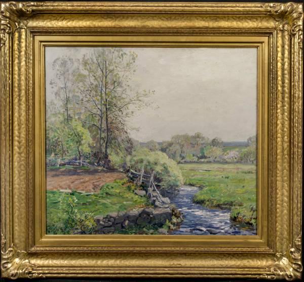 Wilson Irvine Spring in Old Lyme, CT Framed