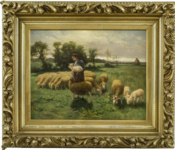 Elmer Ellsworth Garnsey Shepherdess in a Field