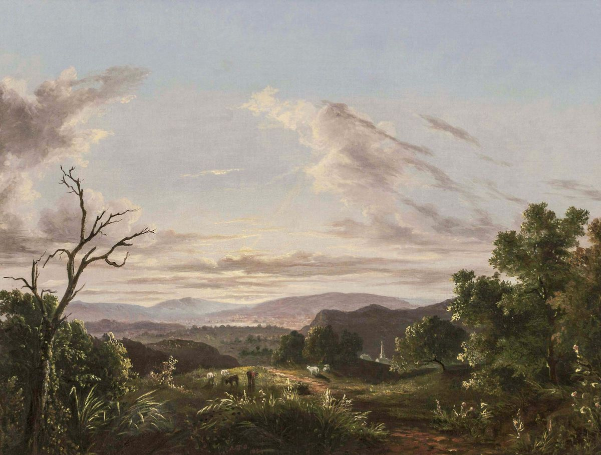 ABIGAIL TYLER OAKES View of the Connecticut River Valley Unframed