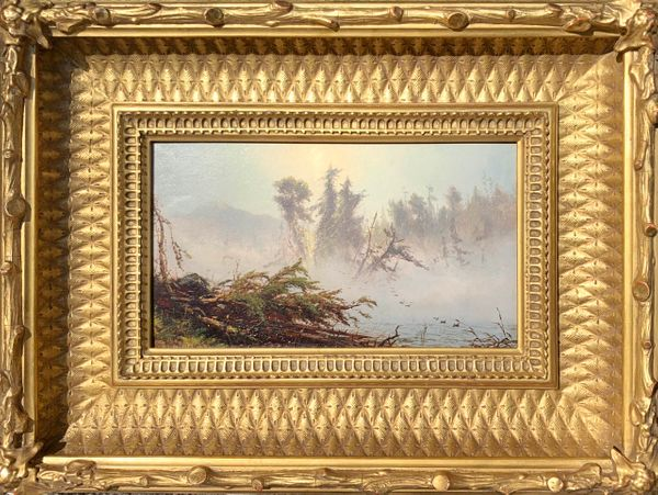 James McDougal Hart Misty Morning, Lake Placid, 1860