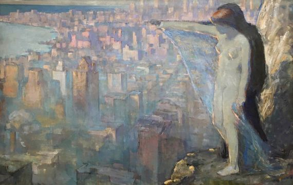 Edith Mitchell Prellwitz Overlooking New York unframed