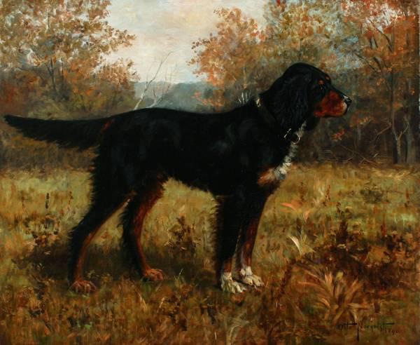 Otto Norquist Gordon Setter in a Landscape, 1890