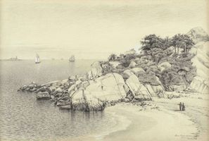 James Renwick Brevoort  Stage Rocks and Halfmoon Beach, Gloucester, MA  Unframed