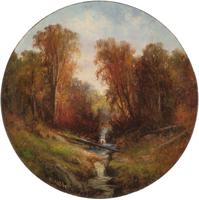 Wesley Webber  Autumn Stream Unframed