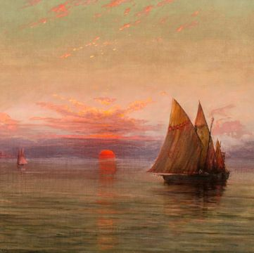 Charles Albert Rogers The Setting Sun, 1892 unframed