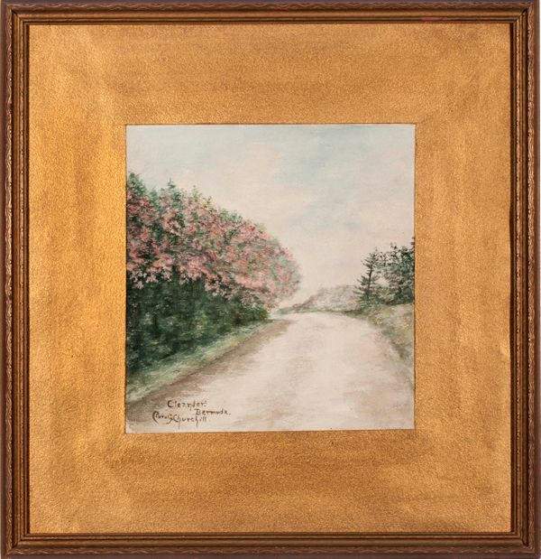 Clara G. Churchill (Granddaughter of Winston Churchill) Oleander, Bermuda Framed