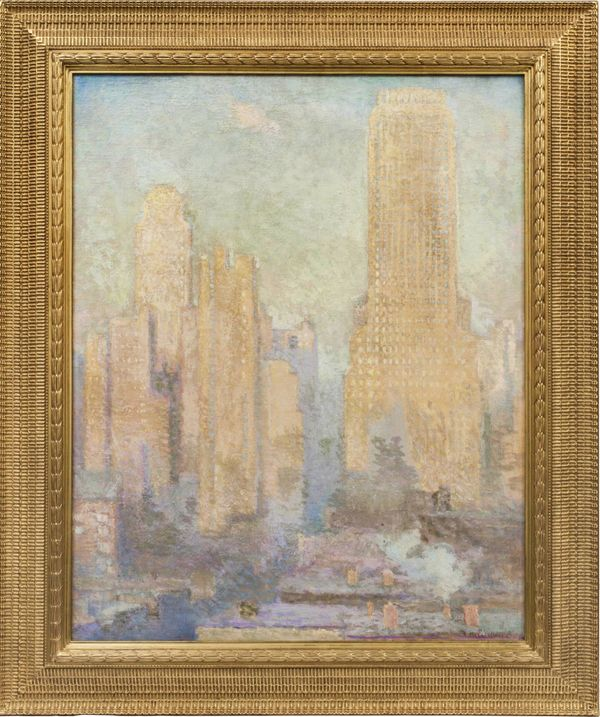 Edith Prellwitz  Chanin Building, Midtown Manhattan Framed