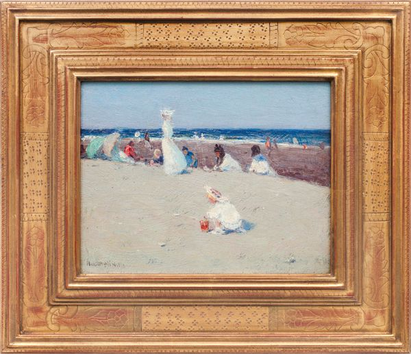 Hobart Nichols, Jr.  On the Beach Framed