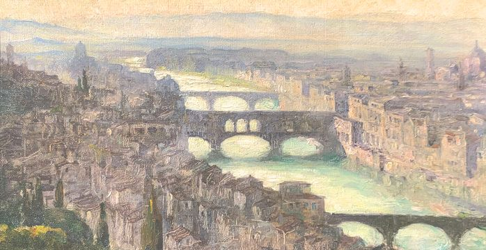 Anna Mary Richards Brewster Arno River, Florence