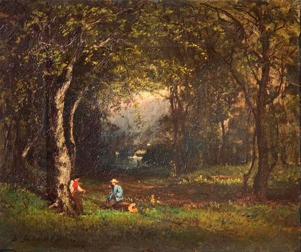 George Inness Wood Choppers unframed
