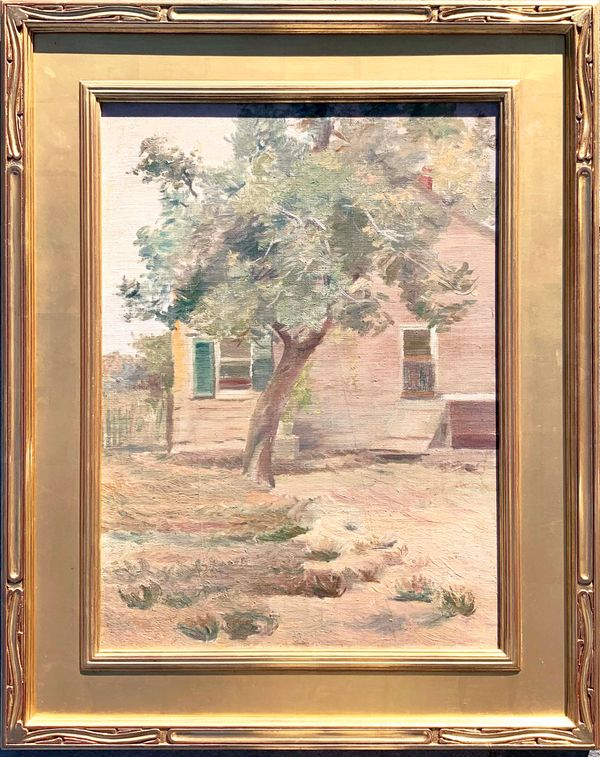Mary L. Haines House with Tree
