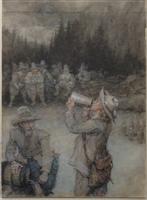 Boughton, George Henry_Rip Van Winkle drinking.png
