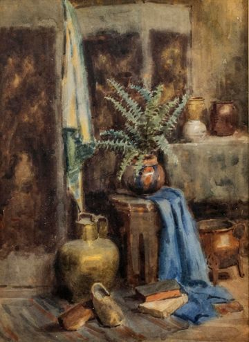 Mary Lane McMillan Interior Scene with Fern