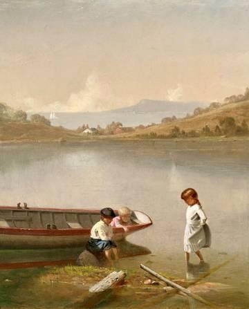 Edward Gay Children by a Rowboat