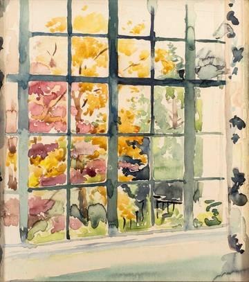 Mary Lane McMillan View from Studio Window, c. 1930-60