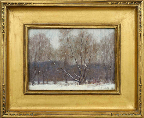 Clark Greenwood Voorhees Winter Forest Framed