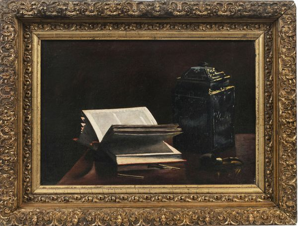 Olga Sorensen Still-life with Pipe, Books and Jar Framed
