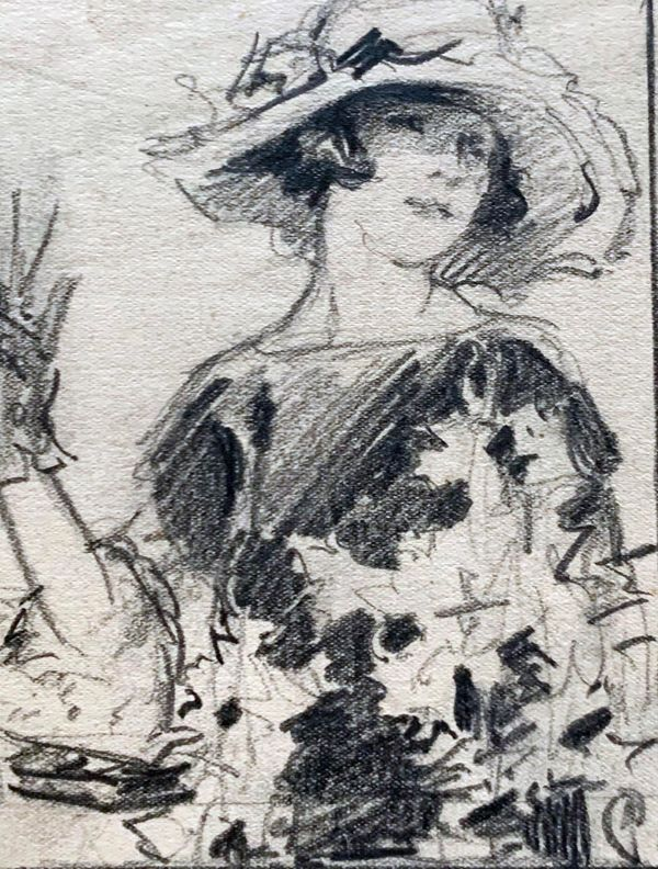 Mary Lane McMillan Lady with Hat unframed