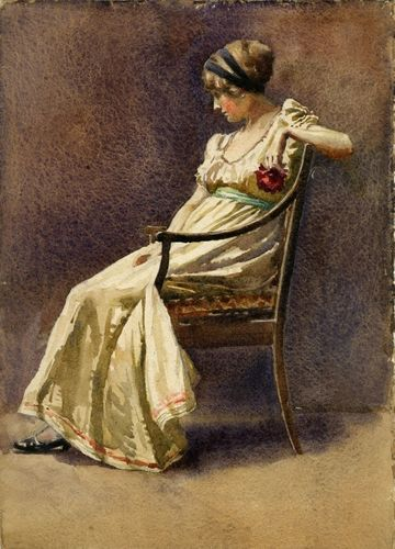 Florence Robinson Woman Seated in Chair Unframed