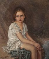 Walter Cox Portrait of a Girl