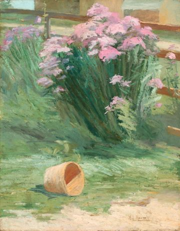 Mary L. Haines Corner of a Garden unframed