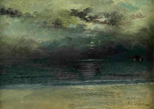 Mary Lord Stevens Dusk at Sea unframed