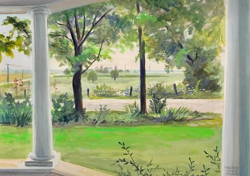 Virginia Powis Brown (Green) View from the Porch, Washington Oaks, Florida