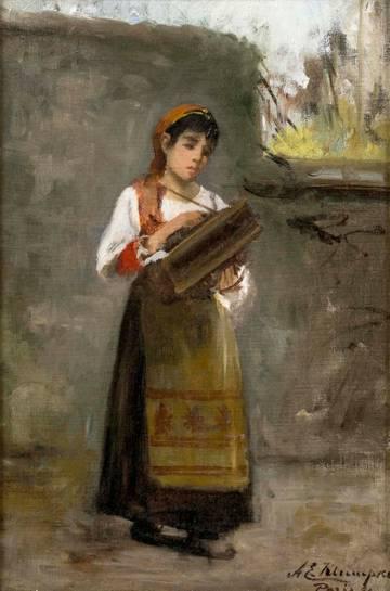 Anna E. Klumpke Portrait of a Girl unframed