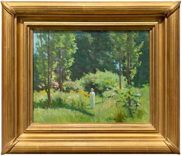 Lydia Longacre In the Pupke's Garden unframed