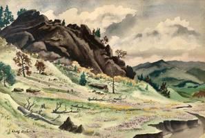 Adolphe Dehn Rocks and Rockies unframed