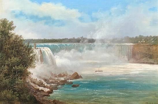 Ferdinand Richardt Niagara Falls unframed