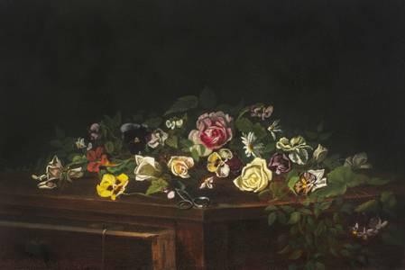 Minnie Rankin Wyman Tabletop Bouquet Unframed