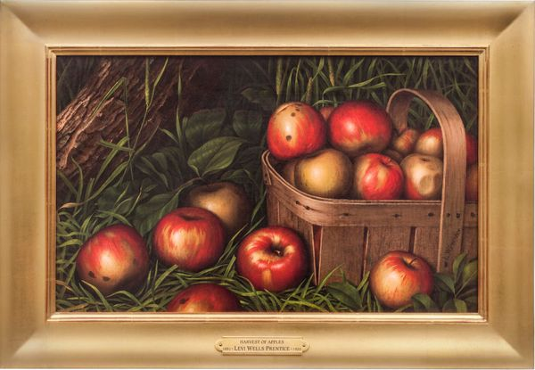 Levi Wells Prentice Harvest of Apples Framed