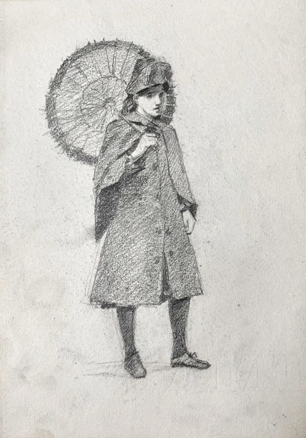 Mary Cummings Browne Woman Holding a Parasol