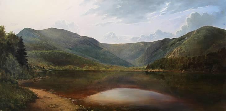 The Basin Evans Notch_Lauren Sansaricq_24x48in. oil on panel.jpg
