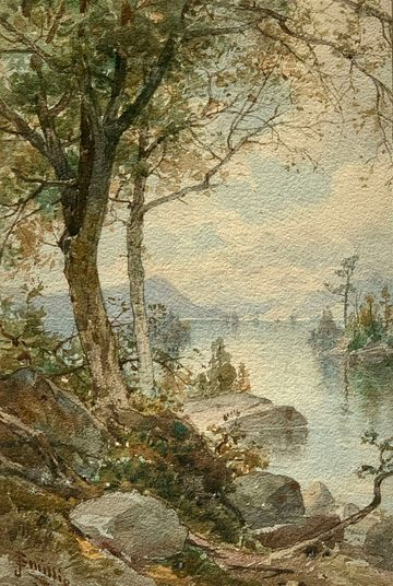James David Smillie Harbor Islands, Lake George unframed