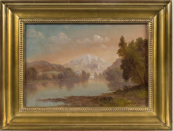 Daniel Charles Grose Mountain Lake framed