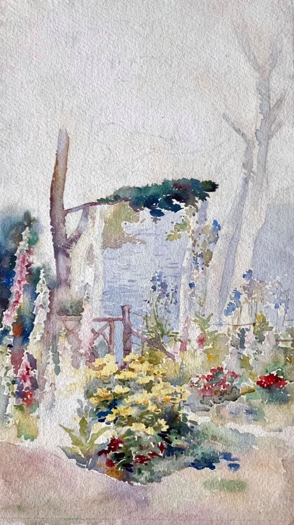 Mary Lane McMillan In the Garden unframed