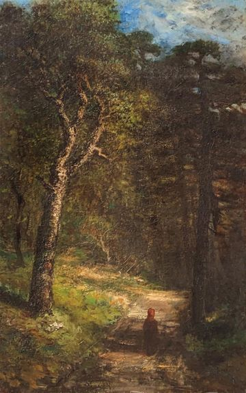 Marie a'Becket Figure on a Forest Path