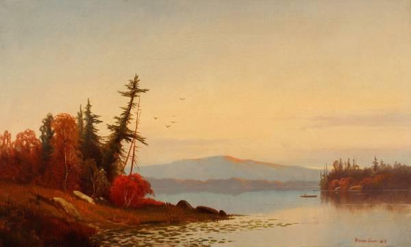 Hermann Simon Sunset on the Hudson River