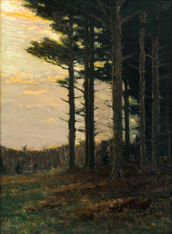 Charles Warren Eaton Pines at Sunset unframed
