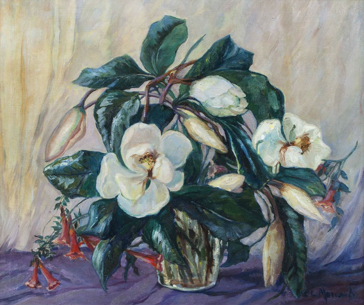 CLARA LOTTE VON MARCARD-CUCUEL  Magnolias Unframed