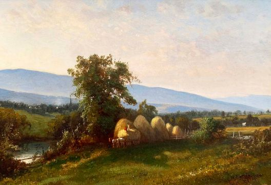 Frederick Rondel, Sr. Haying in the Hudson River Valley